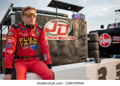 September 21, 2018 - Richmond, Virginia, USA: Quin Houff (4) gets ready to practice for the Go Bowling 250 at Richmond Raceway in Richmond, Virginia.