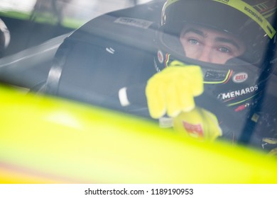 September 21, 2018 - Richmond, Virginia, USA: Ryan Blaney (12) gets ready to practice for the Federated Auto Parts 400 at Richmond Raceway in Richmond, Virginia.