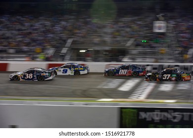 September 21, 2019 - Richmond, Virginia, USA: David Ragan (38) battles for position under the lights for the Federated Auto Parts 400 at Richmond Raceway in Richmond, Virginia.