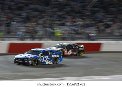 September 21, 2019 - Richmond, Virginia, USA: Ricky Stenhouse, Jr (17) battles for position under the lights for the Federated Auto Parts 400 at Richmond Raceway in Richmond, Virginia.