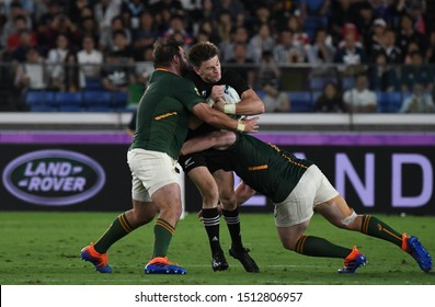 September 21, 2019, Yokohama, Japan, The 2019 Rugby World Cup Pool B match between New Zealand and South Africa at Nissan Stadium,Yokohama.