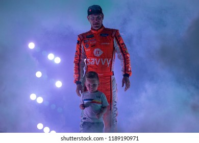 September 22, 2018 - Richmond, Virginia, USA:  Clint Bowyer (14) gets introduced for the Federated Auto Parts 400 at Richmond Raceway in Richmond, Virginia.