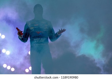 September 22, 2018 - Richmond, Virginia, USA:  Darrell Wallace, Jr (43) gets introduced for the Federated Auto Parts 400 at Richmond Raceway in Richmond, Virginia.