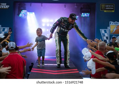September 22, 2019 - Richmond, Virginia, USA: Clint Bowyer (14) gets introduced for the Federated Auto Parts 400 at Richmond Raceway in Richmond, Virginia.