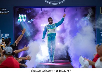 September 22, 2019 - Richmond, Virginia, USA: Darrell Wallace, Jr (43) gets introduced for the Federated Auto Parts 400 at Richmond Raceway in Richmond, Virginia.