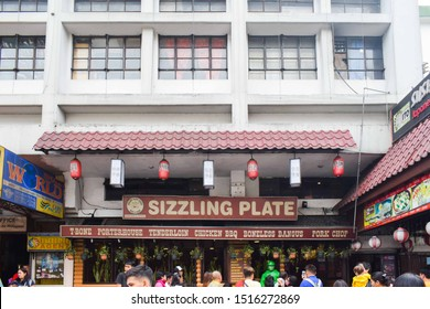 SEPTEMBER 22, 2019-BAGUIO CITY PHILIPPINES : Sizzling plate restaurant signage located along session road in Baguio City in the Philippines. Baguio city is the summer capital of the Philippines.