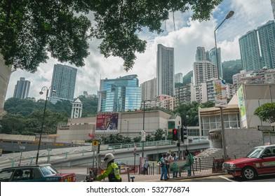 September 24, 2016 :  City view in Hong kong Island