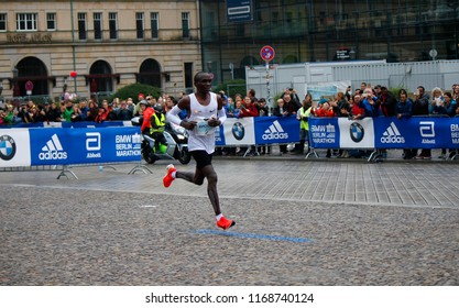 SEPTEMBER 24, 2017 - BERLIN: Eliud Kipchoge - Berlin Marathon.