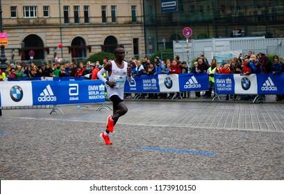 SEPTEMBER 24, 2017 - BERLIN: Eliud Kipchoge - Berlin Marathon.