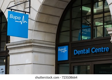 September 24, 2017. Bupa Dental care offices in central London. Bupa is a global health insurance company.