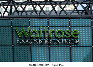September 24, 2017, London UK. Waitrose Supermarket  in Canary wharf.