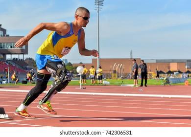 September 25, 2017. Toronto, Canada - Ukrainian athletes during the Invictus Games competition at York Stadium in Toronto, Canada.