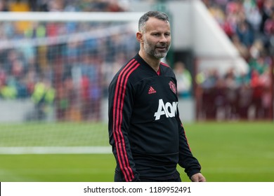 September 25th, 2018, Cork, Ireland - Ryan Giggs during the warm up on the Pairc Ui Chaoimh pitch for the Liam Miller Tribute match between Ireland and Celtic XI vs Manchester United XI.