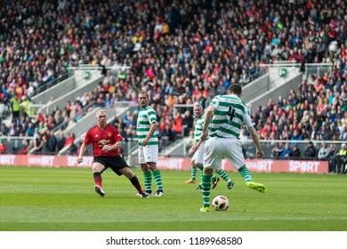 September 25th, 2018, Cork, Ireland - Paul Scholes during the Liam Miller Tribute match between Ireland and Celtic XI vs Manchester United XI.