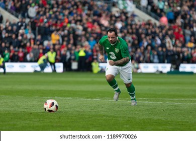 September 25th, 2018, Cork, Ireland - Penalty shootout at Pairc Ui Chaoimh, for the Liam Miller Tribute match between Ireland and Celtic XI vs Manchester United XI that ended in 2-2 after 90m.