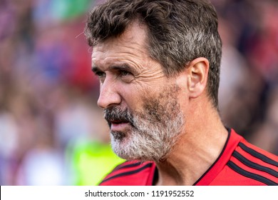 September 25th, 2018, Cork, Ireland - Side portrait close up of Roy Keane looking straight ahead while at the Liam Miller Tribute match.