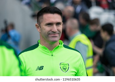 September 25th, 2018, Cork, Ireland - Robbie Keane leaving the tunnel to warm up on the Pairc Ui Chaoimh pitch, for the Liam Miller Tribute match between Ireland and Celtic XI vs Manchester United XI.