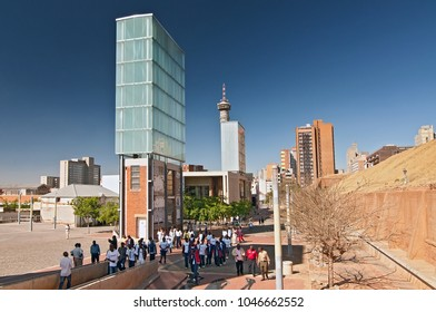 September 27, 2008. Constitutional Court of South Africa on Constitution Hill in Johannesburg, Gauteng, South Africa.