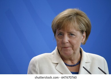 SEPTEMBER 27, 2016 - BERLIN: German Chancellor Angela Merkel at a press conference after a meeting with the Prime Minister of Malaysia in the Federal Chanclery in Berlin.
