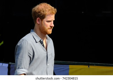 September 27, 2017, Toronto, Canada - His Royal Highness Prince Harry meeting with competitors during Invictus Games in Toronto, Canada.
