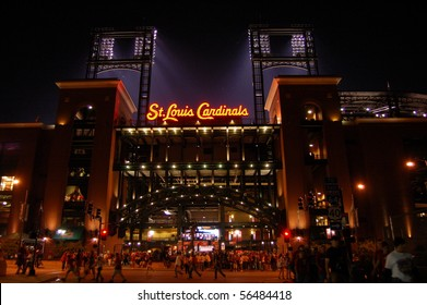SEPTEMBER 27 - ST. LOUIS: New Busch Stadium on the night of September 27, 2008 in St. Louis, MO.