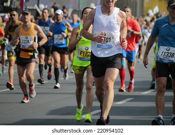 SEPTEMBER 28, 2014 - BERLIN: impressions from the 42nd Berlin Marathon, Berlin.