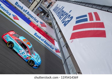 September 28, 2018 - Concord, North Carolina, USA: Darrell Wallace, Jr (43) practices for the Bank of America ROVAL 400 at Charlotte Motor Speedway in Concord, North Carolina.