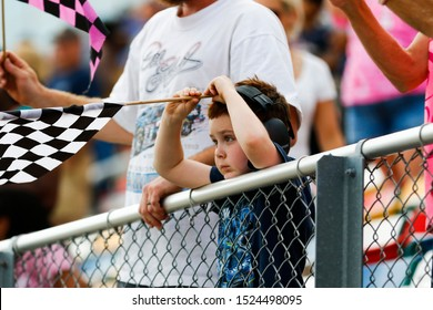 September 28, 2019 - , , : Fans for the Drive for the Cure 250 presented by Blue Cross Blue Shield of North Carolina at Charlotte Motor Speedway in Concord, North Carolina.