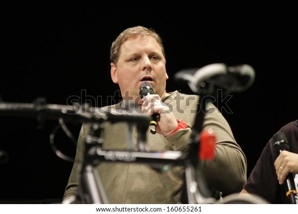 "SEPTEMBER 29, 2013 - BERLIN: Michael Arrington at the conferece ""Disrupt Europe: Berlin 2013"" by TechCrunch, Arena, Berlin-Treptow."