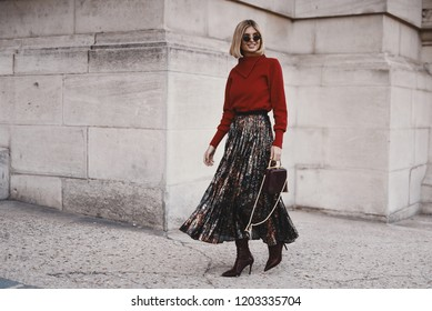 September 29, 2018: Paris, France - Stylish outfit during Paris Fashion Week, street style concept  - PFWSS19