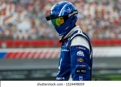 September 29, 2019 - Concord, North Carolina, USA: Darrell Wallace, Jr (43) pit crew member during the Bank of America ROVAL 400 at Charlotte Motor Speedway in Concord, North Carolina.