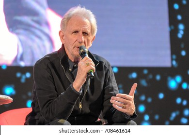 September 2nd, 2017. Mannheim, Germany. Rene Auberjonois, Odo in Star Trek: DS9, at his panel at Startopia. Star Trek Actors and Trekkies get together at this convention in Mannheim, Germany