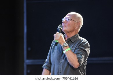September 2nd, 2017. Mannheim, Germany. Ernst Meincke, german voice of Captain Picard in Star Trek: TNG, was the host of Startopia, a Star Trek Convention.