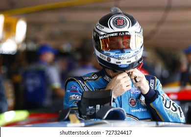 September 30, 2017 - Dover, Delaware, USA: Kevin Harvick (4) hangs out in the garage during practice for the Apache Warrior 400 at Dover International Speedway in Dover, Delaware.