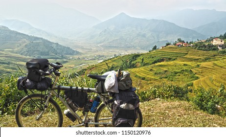 SEPTEMBER 30,2016:Bicycle touring in northern Vietnam.