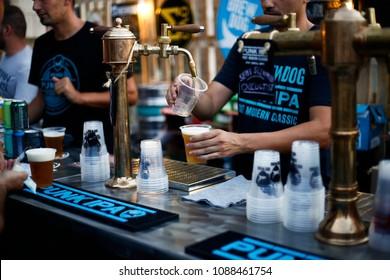 September 3-2017. Beer festival. Thessaloniki, Greece.