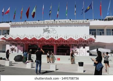 September 4, 2019, Venice, Italy. The 76th Venice Film Festival  at the Lido in Venice, Italy.