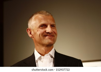 """SEPTEMBER 5, 2008 - BERLIN: Andrea Illy (founder of illy Cafe)  at the opening of his exhibition """"In Prinzipo"""", c/o berlin, Postfuhramt, Berlin."""
