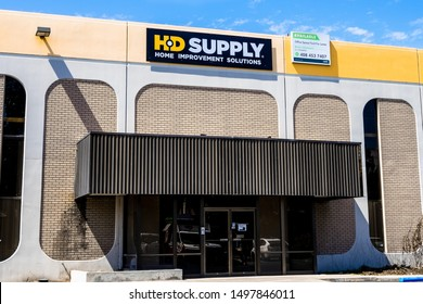 September 5, 2019 Santa Clara / CA / USA - HD Supply Home Improvement solution store in South San Francisco Bay Area; HD Supply, Inc. is an industrial distributor in North America