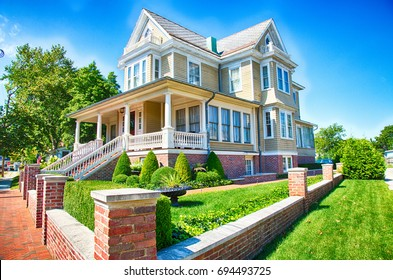 September 6, 2014: Cape May, New Jersey, An historic home in Cape May, New Jersey's historic town center.