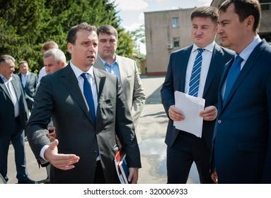 September 7, 2015. Cherkasy region, Ukraine. Minister of Economic Development and Trade of Ukraine Aivaras Abromavicius.