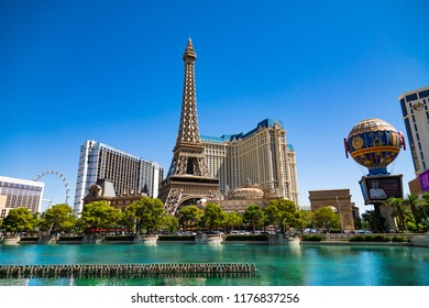 September 7. 2018. Paris Las Vegas is a Hotel and Casino located on the Las Vegas Strip in Paradise. Las Vegas, Nevada, USA.