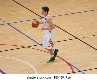 September 9, 2014 tarihindebarselo to the 2014 FIBA World Basketball Championship Group C Turkey-Lithuania turkey from Cedi Osman takes the ball during the match.