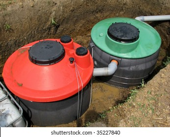 Septic system instalation in rural area