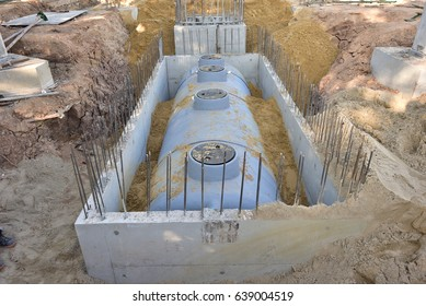 Septic tank installation for wastewater treatment system