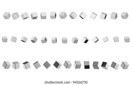 sequence of cubes neutral gray for the header of the site design