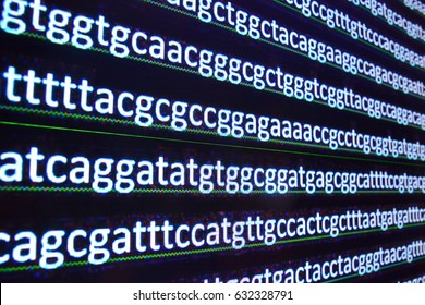 Sequence DNA. Background of the symbols of nucleotide bases transcribed nucleic acid molecule.