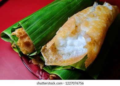 Serabi Notosuman Pancake, a delicious and appetizing sweet cake from the city of Solo, Indonesia