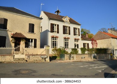 Seraincourt , France - october 26 2015 : the picturesque village of Val d Oise in autumn