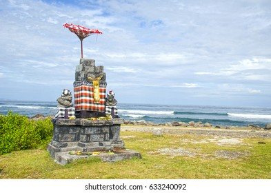 Serangan beach, Bali, Indonesia. Popular surf spot.